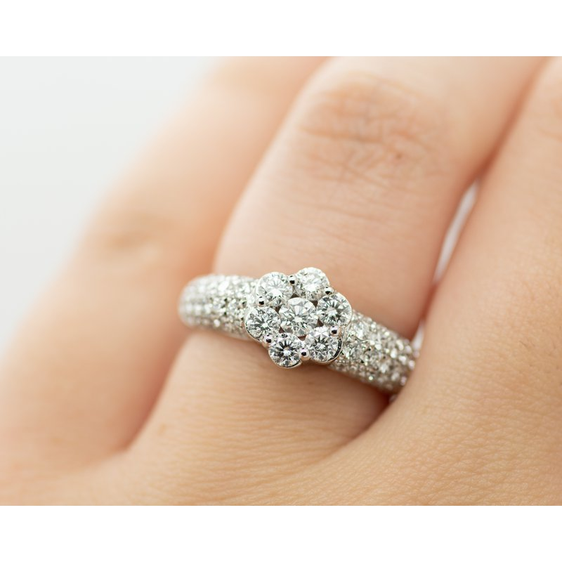 Jewelry Couture Exclusives Pave Floral Diamond Ring