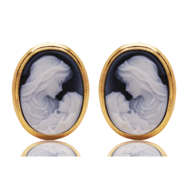 Estate Jewelry Cameo Earrings