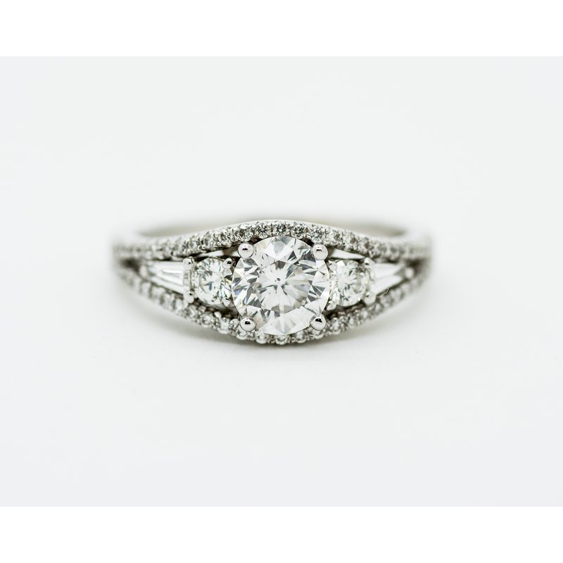 Jewelry Couture Exclusives Art Deco Signet Diamond Engagement Ring