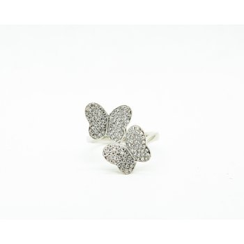 Twin Butterfly Diamond Ring