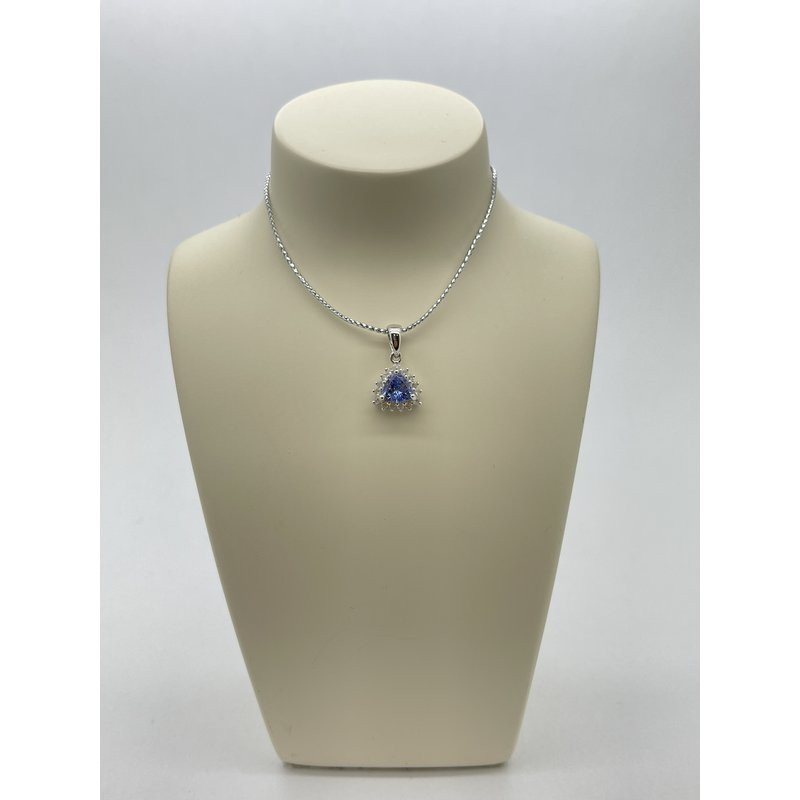Jewelry Couture Exclusives Tanzanite and Diamond Pendant
