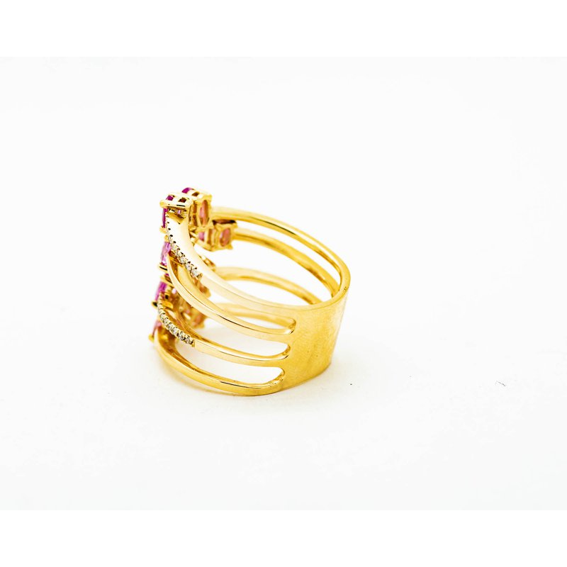 Jewelry Couture Exclusives Stacked Pink Sapphire 14k Gold Ring