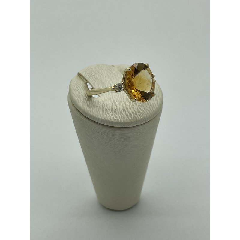 Jewelry Couture Exclusives Citrine and Diamond Ring