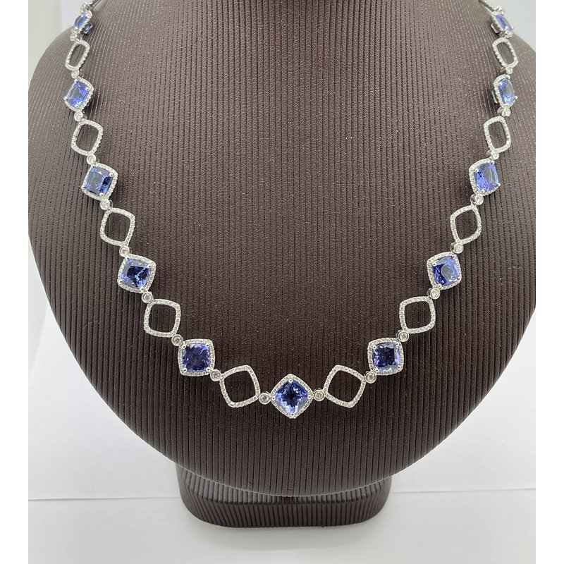 Jewelry Couture Exclusives Tanzanite and Diamond Necklace