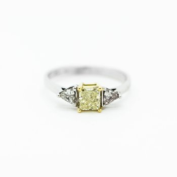 Yellow Diamond Vintage Style Engagement Ring