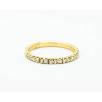 Yellow Gold Diamond Half-Eternity Band