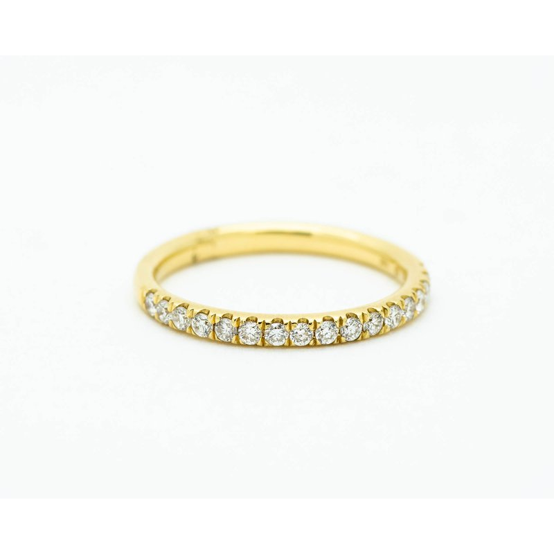 Jewelry Couture Exclusives Yellow Gold Diamond Half-Eternity Band