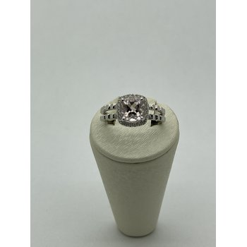 Morganite White Gold Ring