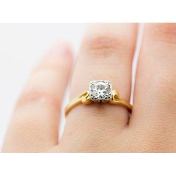 Mixed Metal 0.7ct Diamond Engagement Ring