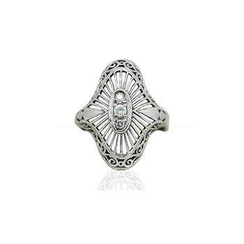 Vintage Diamond Statement Ring