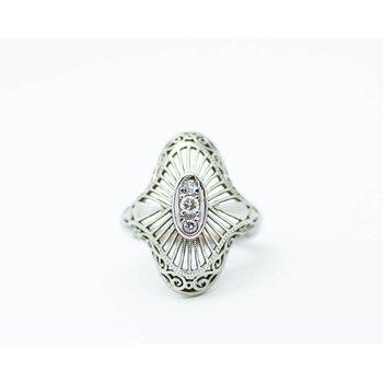Vintage Diamond Statement Ring
