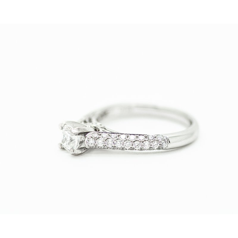 Jewelry Couture Exclusives Cushion Pave Engagement Ring