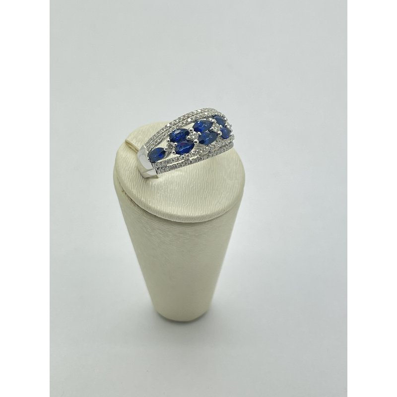 Jewelry Couture Exclusives Diamond and Sapphire White Gold Ring