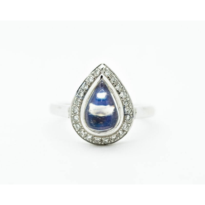 Jewelry Couture Exclusives Teardrop Moonstone Diamond Ring