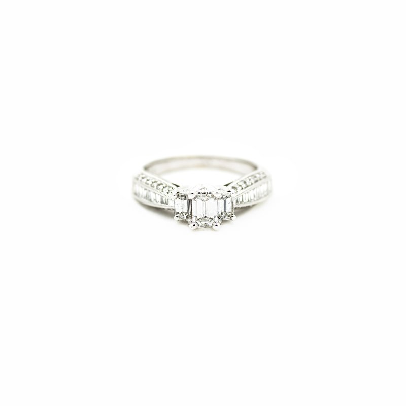 Jewelry Couture Exclusives 3-Stone Emerald Diamond Engagement Ring