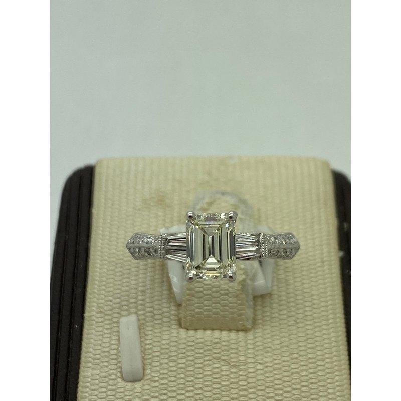 1.05ct Emerald Cut Engagement Ring