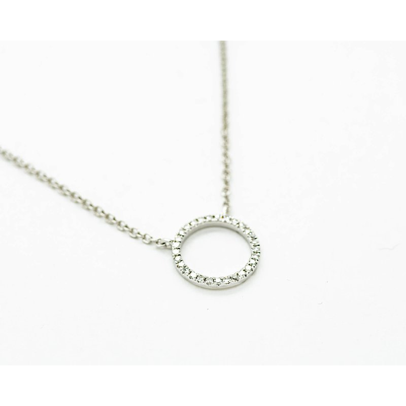 Jewelry Couture Exclusives 14k White Gold Diamond Ring Necklace