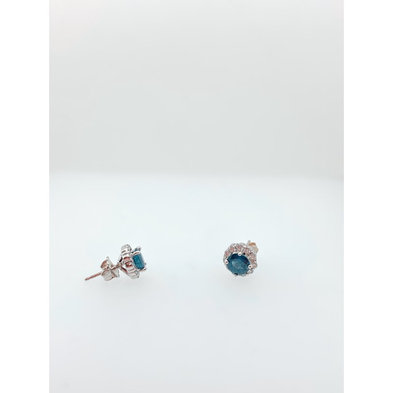 Jewelry Couture Exclusives Sapphire White Gold Studs