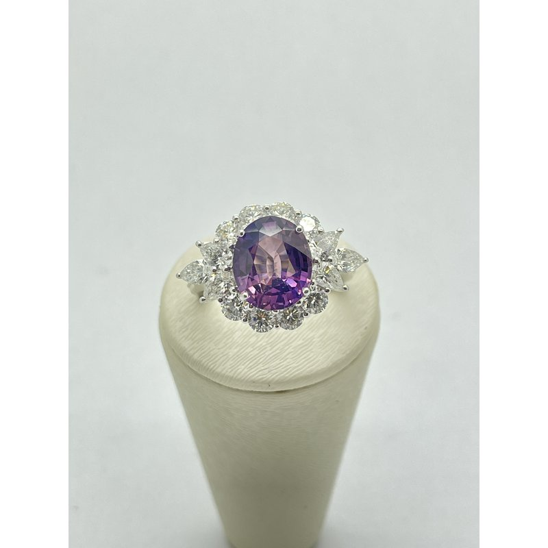 Jewelry Couture Exclusives Purple Sapphire and Diamond Ring