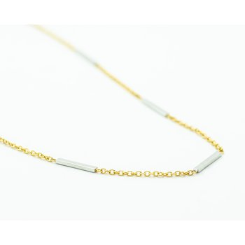 "24"" Two Tone 14k Gold Layer Chain"