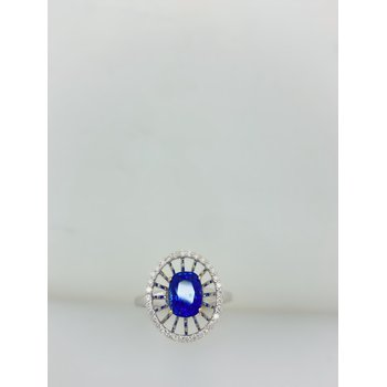 Sapphire Extended Halo Ring