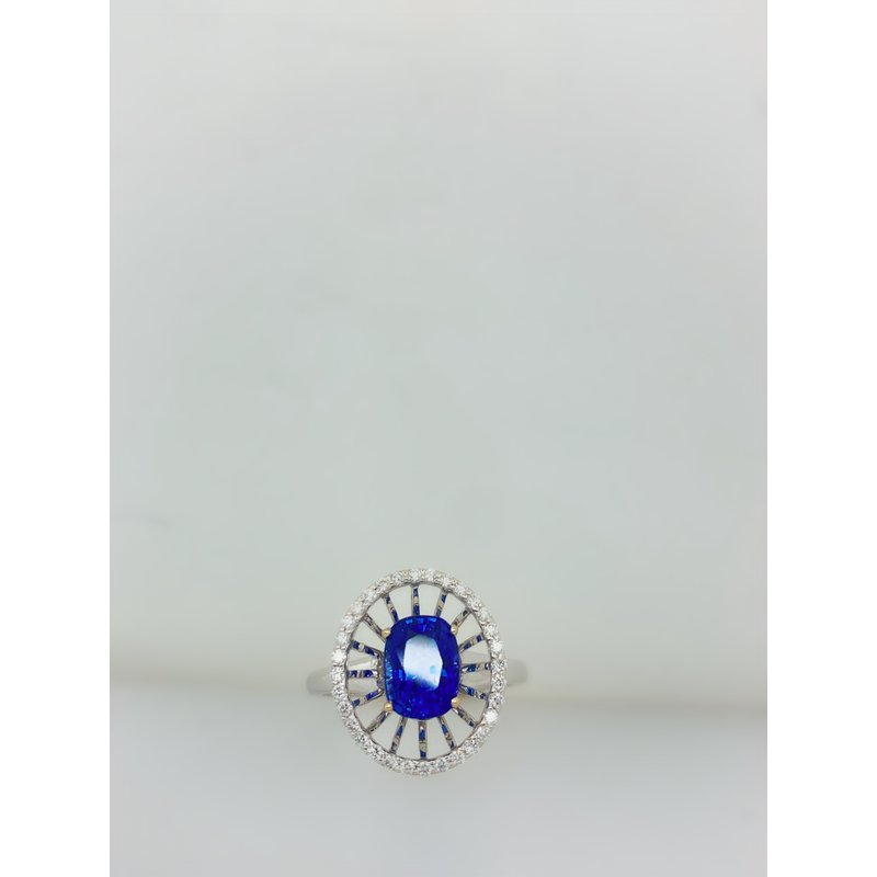 Jewelry Couture Exclusives Sapphire Extended Halo Ring