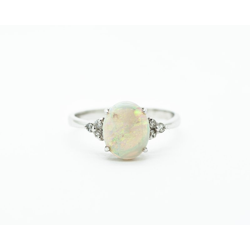 Jewelry Couture Exclusives 1.84ct White Opal Diamond Ring