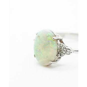 1.84ct White Opal Diamond Ring