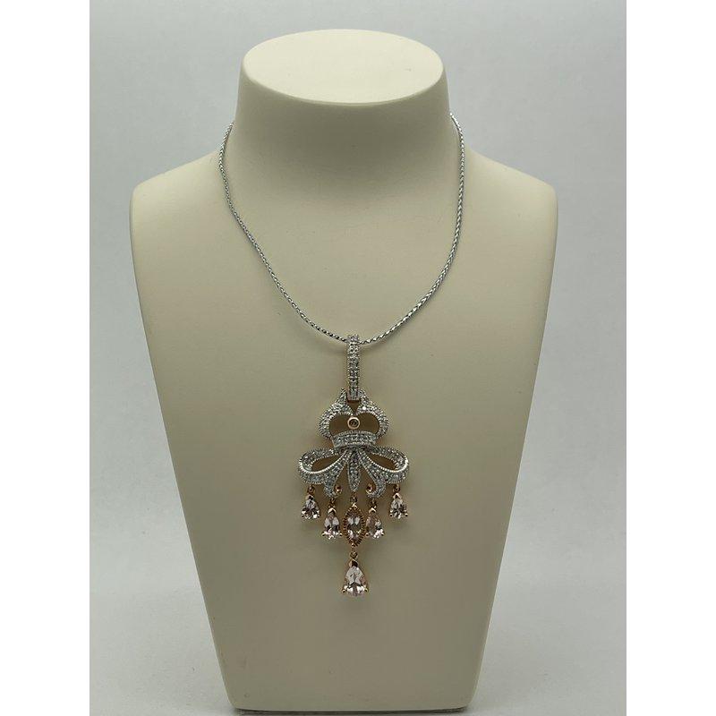 Jewelry Couture Exclusives Diamond and Morganite Fashion Pendant