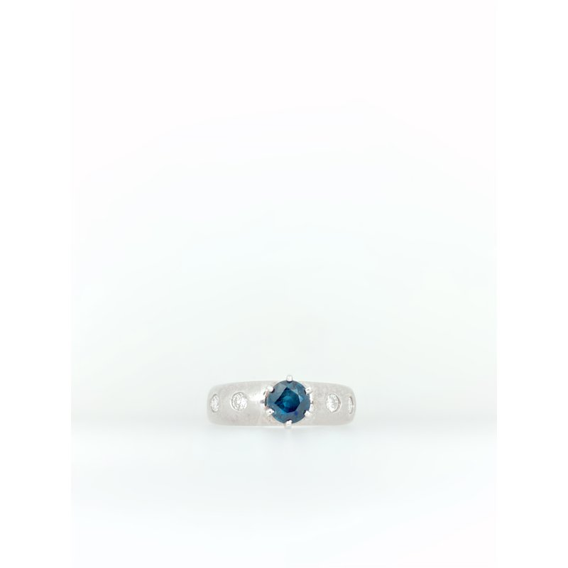Jewelry Couture Exclusives Sapphire and Diamond White Gold Ring