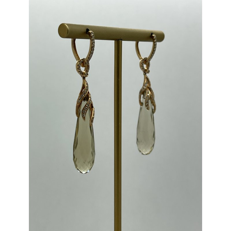 Jewelry Couture Exclusives Lemon Quartz and Diamond Earrings