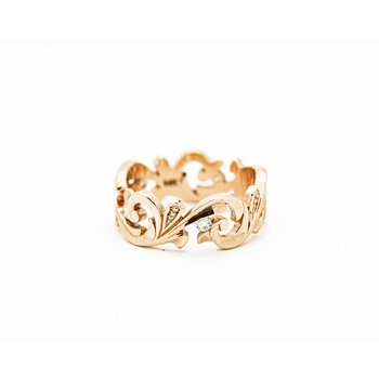 Victorian Rose Gold Diamond Band