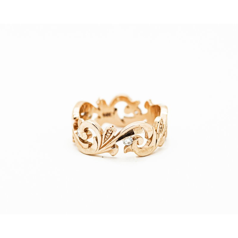 Jewelry Couture Exclusives Victorian Rose Gold Diamond Band