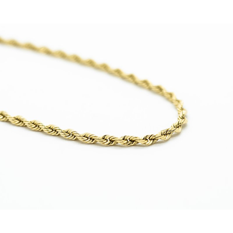 """Jewelry Couture Exclusives 14k  Yellow Gold 18"""" Rope Chain"""