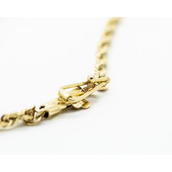 "14k  Yellow Gold 18"" Rope Chain"