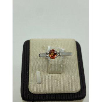 Orange Sapphire Ring