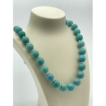 """Silver 20"""" Turquoise Necklace"""