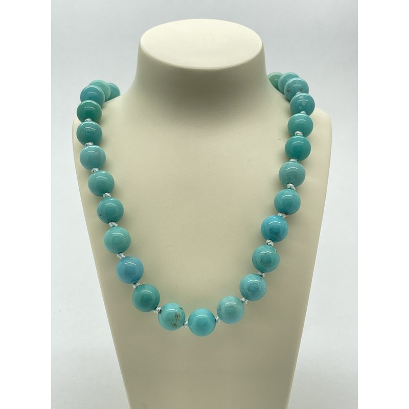 """Jewelry Couture Exclusives Silver 20"""" Turquoise Necklace"""