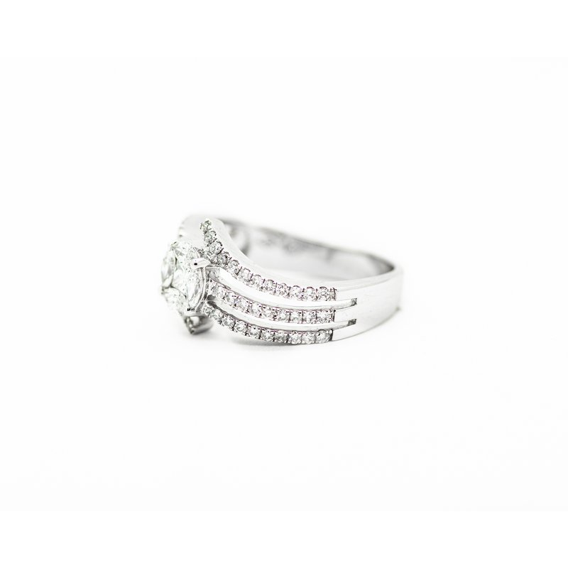 Jewelry Couture Exclusives Multi Band Diamond Cluster Engagement Ring