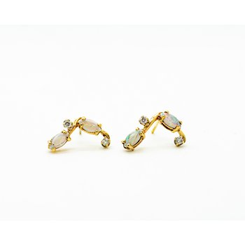 Opal and Diamond Constellation Studs