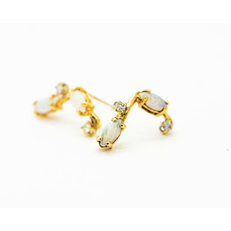 Jewelry Couture Exclusives Opal and Diamond Constellation Studs