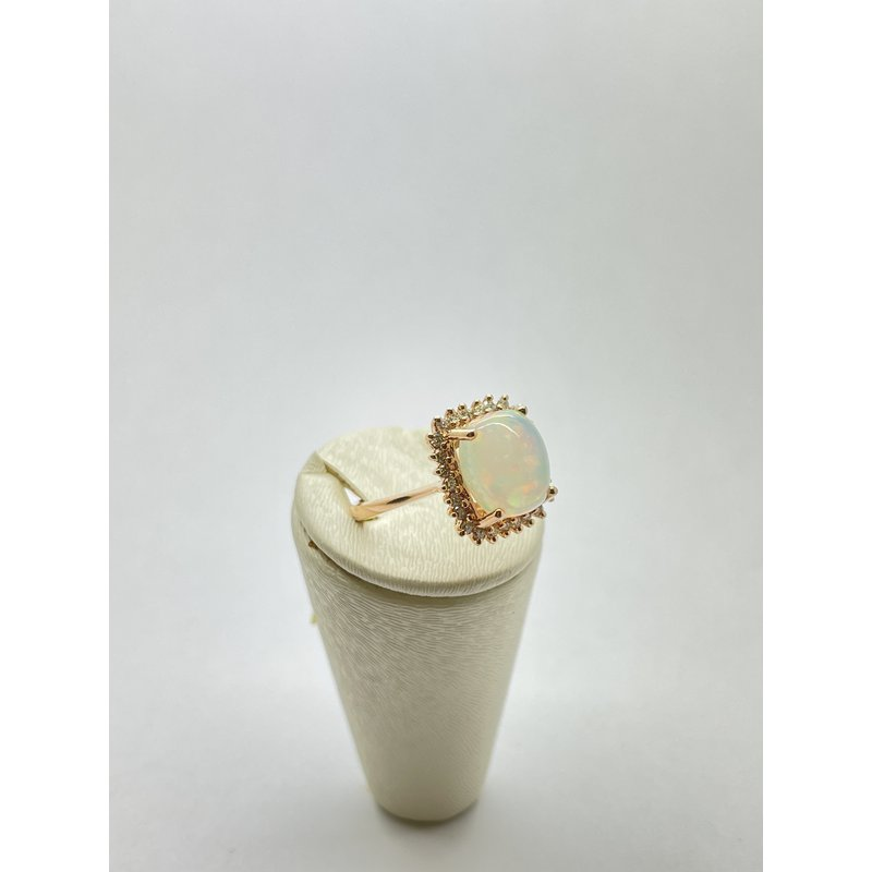 Jewelry Couture Exclusives Opal and Diamond Rose Gold Ring