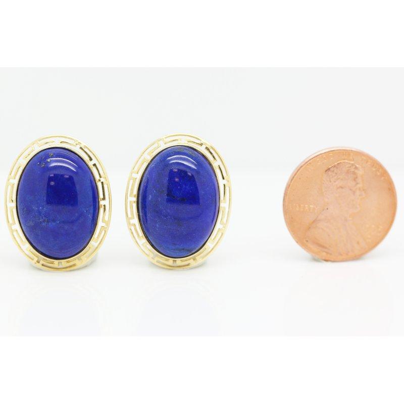 Estate Jewelry Lapis Earrings