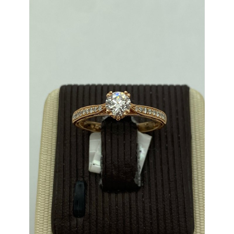 Jewelry Couture Exclusives .45CT Round Diamond Rose Gold Engagement Ring