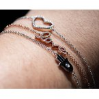 Jewelry Couture Exclusives Diamond Heart White Gold Bracelet