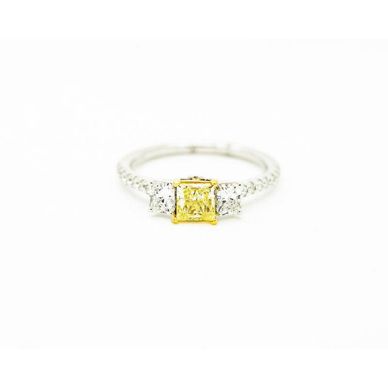 Jewelry Couture Exclusives Yellow Diamond 3-Stone Engagement Ring
