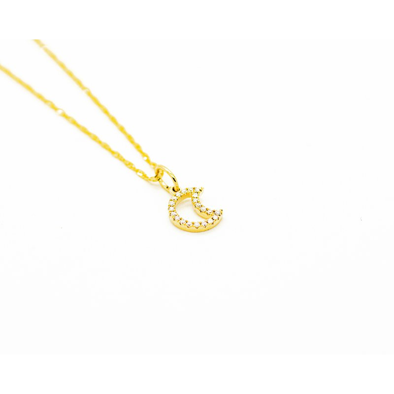 Jewelry Couture Exclusives Diamond Crescent Moon Necklace