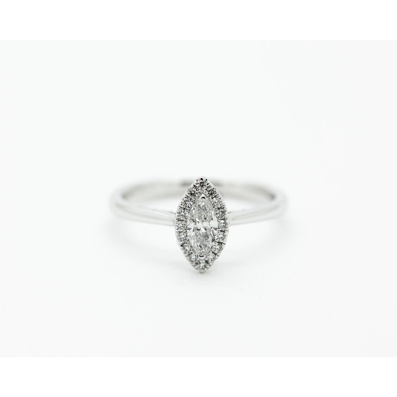 Jewelry Couture Exclusives Marquise Diamond Halo Engagement Ring