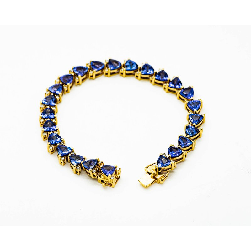 Jewelry Couture Exclusives 14k Yellow Gold Tanzanite Bracelet