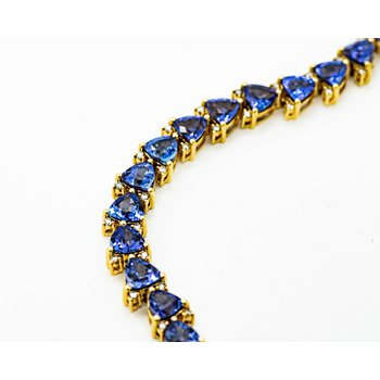 14k Yellow Gold Tanzanite Bracelet